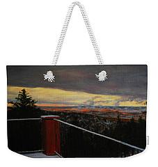 Morning Dusting Above Boulder Weekender Tote Bag