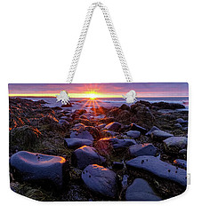Morning Fire, Sunrise On The New Hampshire Seacoast  Weekender Tote Bag
