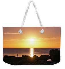 Weekender Tote Bag featuring the photograph Morning Fishing by Dmytro Korol