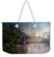 Weekender Tote Bag featuring the photograph Morning Fishing  by Joel Witmeyer
