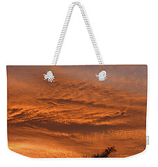 Weekender Tote Bag featuring the photograph Morning Flame by Mark Blauhoefer