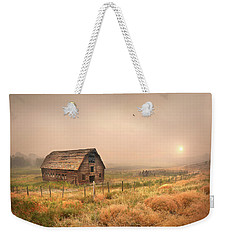 Weekender Tote Bag featuring the photograph Morning Flight by John Poon