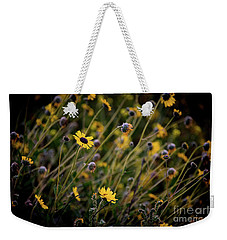 Weekender Tote Bag featuring the photograph Morning Flowers by Kelly Wade