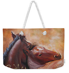 Morning Foals Weekender Tote Bag