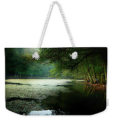 Weekender Tote Bag featuring the photograph Morning Fog by Okan YILMAZ