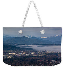 Morning Fog Over Grants Pass Weekender Tote Bag