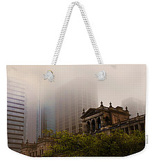 Morning Fog Over The Treasury Weekender Tote Bag