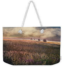 Weekender Tote Bag featuring the photograph Morning Fog by Vladimir Kholostykh