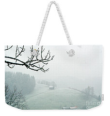 Weekender Tote Bag featuring the photograph Morning Fog - Winter In Switzerland by Susanne Van Hulst