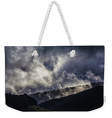 Weekender Tote Bag featuring the photograph Morning Fog,mist And Cloud On The Moutain By The Sea In Californ by Jingjits Photography