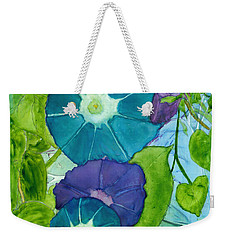 Morning Glories In Watercolor On Yupo Weekender Tote Bag