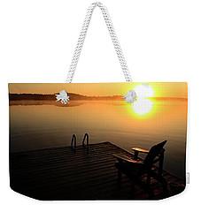 Morning Glory At The Lake Weekender Tote Bag
