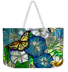 Morning Glory Weekender Tote Bag by Diane E Berry
