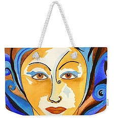 Morning Glory Goddess Weekender Tote Bag