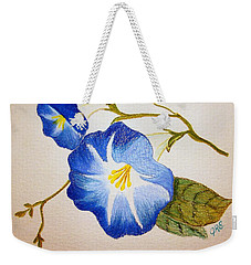 Morning Glory Weekender Tote Bag by J R Seymour