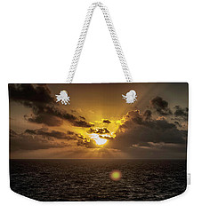 Weekender Tote Bag featuring the photograph Morning Glory by Judy Hall-Folde