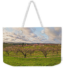 Morning Glory Orchards Weekender Tote Bag by Angelo Marcialis