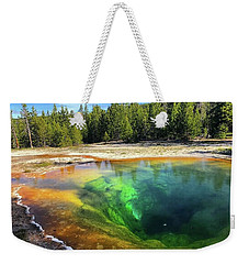 Morning Glory Pool Weekender Tote Bag