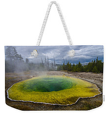 Weekender Tote Bag featuring the photograph Morning Glory Pool by Gary Lengyel