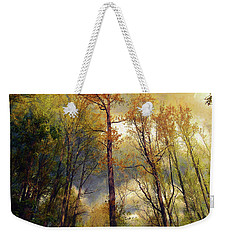 Weekender Tote Bag featuring the photograph Morning Glow by John Rivera