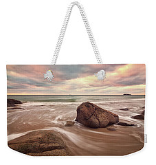 Morning Glow Singing Beach Ma Weekender Tote Bag