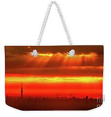 Weekender Tote Bag featuring the photograph Morning Glow by Tatsuya Atarashi