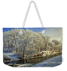 Morning Icing Along The Creek Weekender Tote Bag