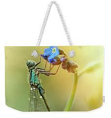 Morning Impression With Blue Dragonfly Weekender Tote Bag by Jaroslaw Blaminsky