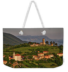 Weekender Tote Bag featuring the photograph Morning In Brda - Slovenia by Stuart Litoff