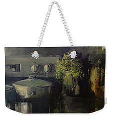 Morning In Nikolo's Kitchen Weekender Tote Bag by Sandra Strohschein
