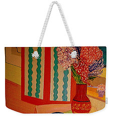 Weekender Tote Bag featuring the painting Bill Oconnors  Morning In Provence by Bill OConnor