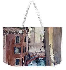 Morning In Venice Weekender Tote Bag by Geni Gorani