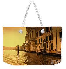 Morning In Venice Sepia Weekender Tote Bag