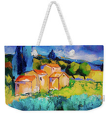 Weekender Tote Bag featuring the painting Morning Light By Elise Palmigiani by Elise Palmigiani