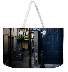Weekender Tote Bag featuring the photograph Morning Light In The French Quarter by Chrystal Mimbs