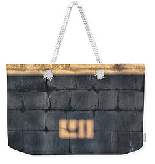 Morning Light On An East Facing Cinder Block Wall Weekender Tote Bag