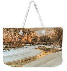Morning Light On The Riverbank Weekender Tote Bag