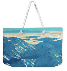 Weekender Tote Bag featuring the photograph Morning Light On The Southern Alps by Steve Taylor