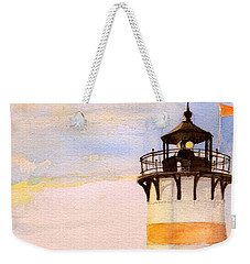 Morning, Lighthouse Weekender Tote Bag