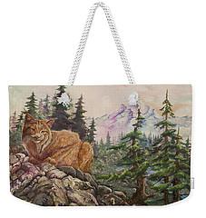 Morning Lynx Weekender Tote Bag