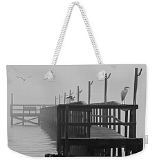 Weekender Tote Bag featuring the photograph Morning Meeting by Joe Jake Pratt