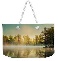 Weekender Tote Bag featuring the photograph Morning Mist At Honor Heights  by James Barber