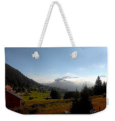 Morning Mist In The Magical Valley Weekender Tote Bag