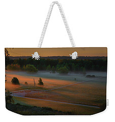 Weekender Tote Bag featuring the photograph Morning Mist Over Dyarna #h7 by Leif Sohlman