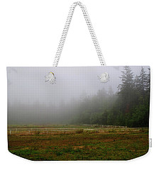 Weekender Tote Bag featuring the photograph Morning Mist Solitude by Tikvah's Hope