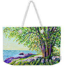 Morning On Chaffinch Island Weekender Tote Bag