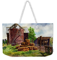 Morning On The Farm Weekender Tote Bag by Anne Gifford