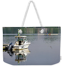Weekender Tote Bag featuring the photograph Morning On The Navesink River 2 by Gary Slawsky