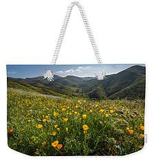 Morning Poppy Hillside Weekender Tote Bag