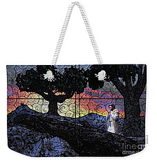Weekender Tote Bag featuring the painting Morning Prayer Transcendent by Dave Luebbert